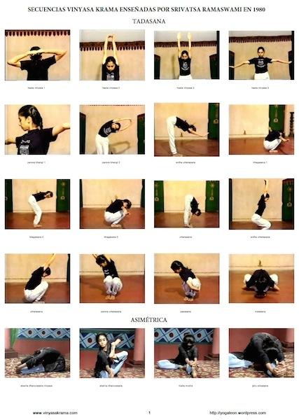 Secuencias Yoga Vinyasa Krama Ramaswami 1980