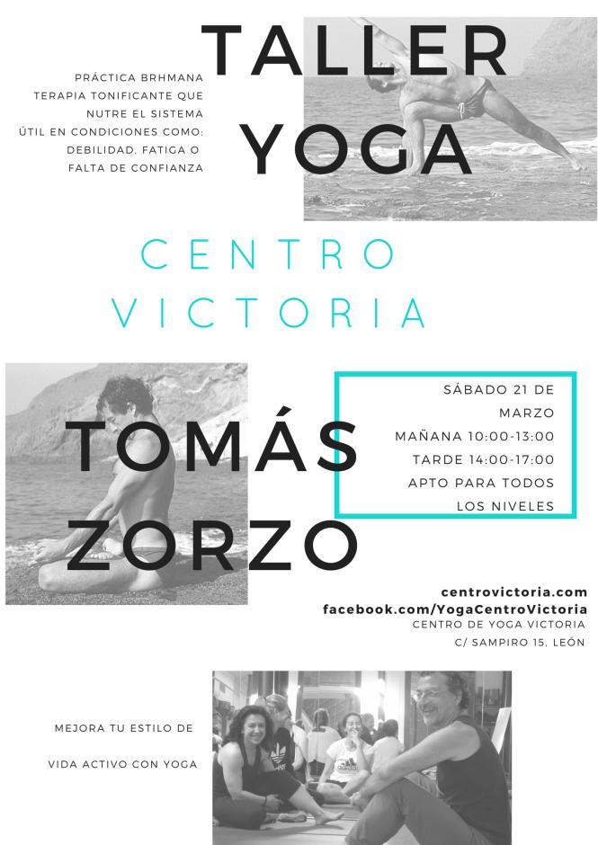 Taller de Yoga Tomás Zorzo práctica brhmana